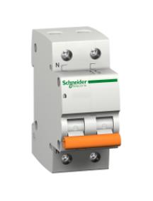 12497 - Disjoncteur logement 2P 25A courbe C 4500 A , Schneider Electric