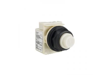 9001SKP1W31 - veilleuse - type SK - Ø 30 - rond - lentille Fresnel blanche - alim. par transfo , Schneider Electric
