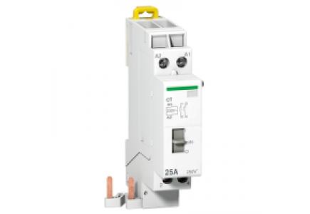 Clario A9C15181 - contacteur avec sélecteur manuel 25A 2P Uc 230V Ue 230VAC , Schneider Electric