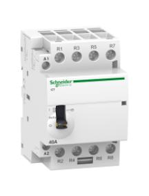 ICT A9C21164 - Acti9, iCT contacteur à commande manuelle 63A 4NO 24VCA 50Hz , Schneider Electric