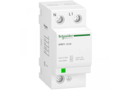 IPRF1 A9L16632 - Acti9, iPRF1 12,5r parafoudre fixe 1P+N , Schneider Electric