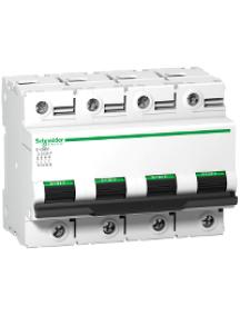 C120 A9N18353 - Disjoncteur C120N 4P 80 A, courbe B, 10 kA , Schneider Electric