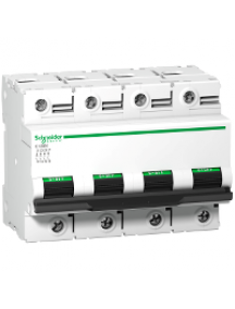 C120 A9N18393 - Disjoncteur C120N 4P 125 A, courbe D, 10 kA , Schneider Electric