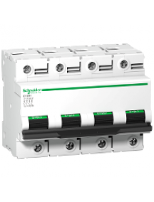 C120 A9N18481 - Disjoncteur C120H 4P 125 A, courbe C, 15 kA , Schneider Electric