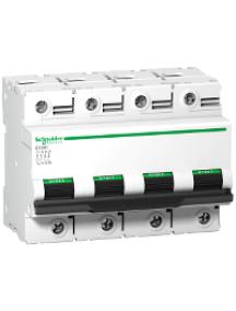 C120 A9N18524 - Disjoncteur C120H 4P 100 A, courbe D, 15 kA , Schneider Electric
