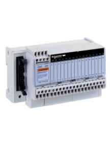 Advantys Telefast ABE7 ABE7R16S111 - Telefast ABE7 - embase - relais électromagnét. soudés - 16 voies - relais 5mm , Schneider Electric