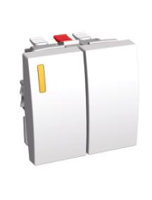 Altira ALB45076 - Altira - commande double (va-et-vient lumineux + va-et-vient) - blanc RAL9010 , Schneider Electric