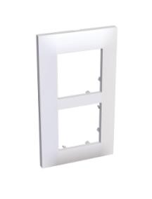 Altira ALB45653 - Altira - plaque blanc RAL 901- montage vertical - 2 postes - 57mm , Schneider Electric