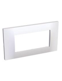 Altira ALB45654 - Altira - plaque blanc 9010 - 2 postes - montage horizontal - entraxe 45mm , Schneider Electric