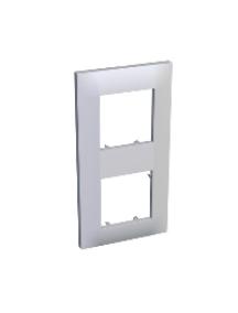 Altira ALB45655 - Altira - plaque finition 2 postes - montage vertical - 152 x 80 mm - blanc , Schneider Electric