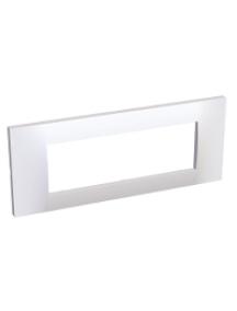 Altira ALB45656 - Altira - plaque blanc 9010 - 3 postes -montage horizontal - entraxe 45mm , Schneider Electric