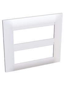 Altira ALB45658 - Altira - plaque blanc 9010 - 2 x 3 postes - entraxe horiz. 45mm - vert 57mm , Schneider Electric
