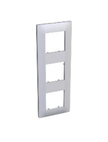 Altira ALB45659 - Altira - plaque finition 3 postes - montage vertical - 224 x 80 mm - blanc , Schneider Electric