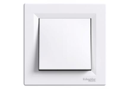EPH0100121 - Asfora - 1pole switch - 10AX screwless, white , Schneider Electric