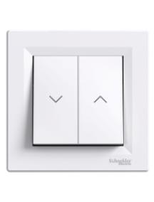 EPH1300521 - Asfora - roller blind switch - 10A screwless terminals, white , Schneider Electric