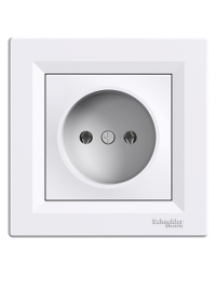 EPH3000121 - Asfora - single socket outlet without earth - 16A white , Schneider Electric
