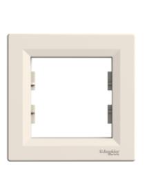 EPH5800123 - Asfora - 1-gang frame - cream , Schneider Electric