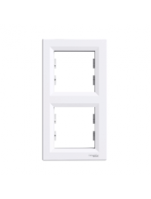 EPH5810221 - Asfora - vertical 2-gang frame - white , Schneider Electric