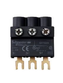 TeSys D GV1G09 - TeSys GV - bornier - pour alimenter jeux de barres tripolaires GV2 - par le haut , Schneider Electric