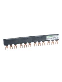 TeSys D GV2G445 - TeSys GV - jeu de barre tripolaire - 63A - 4 dérivations - pas 45 mm , Schneider Electric