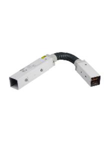 Canalis KBB40DF4405TW - Canalis KBB - élément flexible 40A 0,5m blanc 2x(3L+N)+PE - bus , Schneider Electric