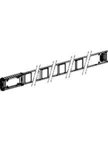 Canalis KNA63ED4204 - Canalis KNA - élément droit 63A 2m blanc 4 fenêtres , Schneider Electric