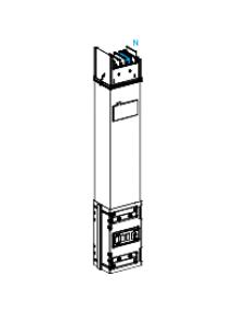 Canalis KSA1000ED4081 - Canalis - élément droit - 63 A - 6 trappes de dérivation , Schneider Electric