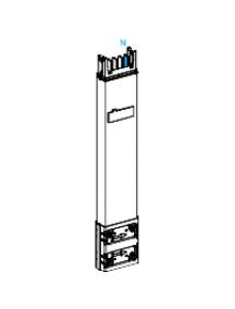 Canalis KSA400ED4081 - Canalis KSA - élément droit colonne montante 400 A 0,8 m 1 fenêtre , Schneider Electric