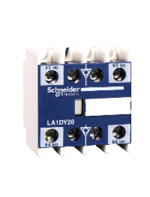 TeSys D LA1DX02 - TeSys D - bloc de contacts auxiliaires - 0F+2O - bornes à vis-étriers , Schneider Electric