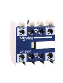 TeSys D LA1DX20 - TeSys D - bloc de contacts auxiliaires - 2F+0O - bornes à vis-étriers , Schneider Electric