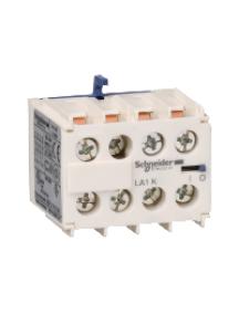 TeSys K LA1KN04 - TeSys CA - bloc de contacts auxiliaires - 0F+4O - bornes à vis-étriers , Schneider Electric
