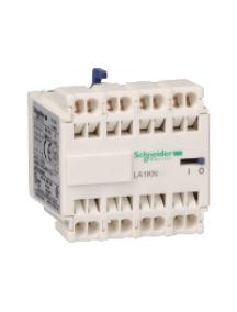 TeSys K LA1KN403 - TeSys CA - bloc de contacts auxiliaires - 4F+0O - bornes à ressort , Schneider Electric