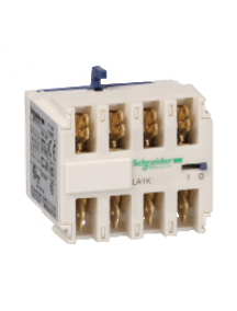 TeSys K LA1KN407 - TeSys CA - bloc de contacts auxiliaires - 4F+0O - cosses Faston , Schneider Electric