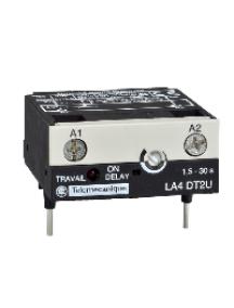 TeSys D LA4DT2U - TeSys CA - module temporisateur électro.- type travail 1.5..30s - 24..250Vcc/ca , Schneider Electric