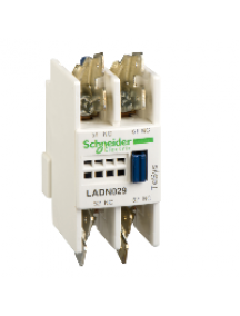 TeSys D LADN029 - TeSys D - bloc de contacts auxiliaires - 0F+2O - cosses Faston , Schneider Electric
