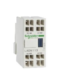 TeSys D LADN113G - TeSys D - bloc de contacts auxiliaires - 1F+1O - bornes à ressort , Schneider Electric