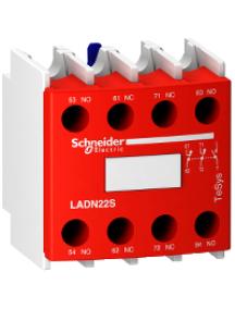 TeSys D LADN22S - TeSys D - bloc de contact auxiliares sécurité rouge - 2NO + 2NC , Schneider Electric