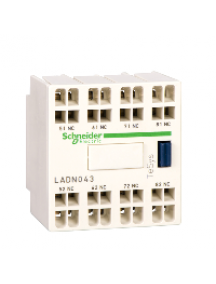 TeSys D LADN313G - contact auxiliaire BLOC CONT 3F plus 1O FRONT RES , Schneider Electric