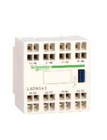 TeSys D LADN403 - TeSys D - bloc de contacts auxiliaires - 4F+0O - bornes à ressort , Schneider Electric