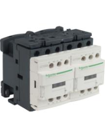 TeSys D LC2D09G7V - TeSys LC2D - contacteur inverseur - 3P - AC-3 440V - 9A - bobine 120Vca , Schneider Electric