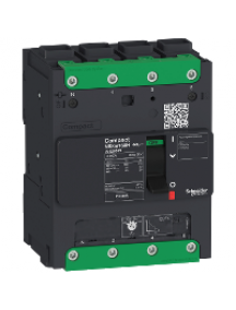 Compact LV426217 - circuit breaker Compact NSXm 100A 4P 25kA at 380/415V(IEC) EverLink lug , Schneider Electric