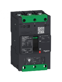Compact LV426256 - circuit breaker Compact NSXm 80A 3P 25kA at 380/415V(IEC) compression lug , Schneider Electric