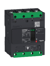 Compact LV426260 - circuit breaker Compact NSXm 16A 4P 25kA at 380/415V(IEC) compression lug , Schneider Electric