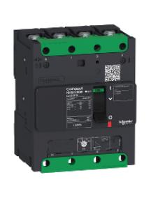 Compact LV426266 - circuit breaker Compact NSXm 80A 4P 25kA at 380/415V(IEC) compression lug , Schneider Electric