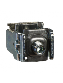 ISFL250...630 LV480867 - V type connector for Cu/Al bare -2x25to300 mm²- for M12 - for Fupact 250 to 630 , Schneider Electric