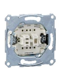 Merten inserts MTN3125-0000 - Two-circuit swit.insrt 1P w. neutral terminal,flush-mntd,10 AX,250 V AC, screwl. , Schneider Electric