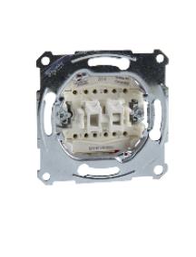 Merten inserts MTN3126-0000 - Aquadesign - mécanisme double va-et-vient - 10A/250Vca - connexion rapide , Schneider Electric