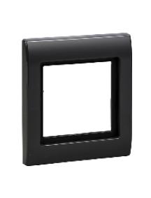 Merten Aquadesign MTN400114 - Plaques de finition Aquadesign à vis, 1 poste, anthracite , Schneider Electric