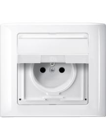 Merten Aquadesign MTN400119 - Aquadesign - plaque de finition standard - 1 poste - blanc , Schneider Electric