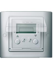 Merten Aquadesign MTN400160 - Aquadesign - plaque de finition standard - 1 poste - aluminium , Schneider Electric